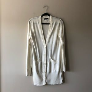 Express cream/ivory colored cardigan sweater